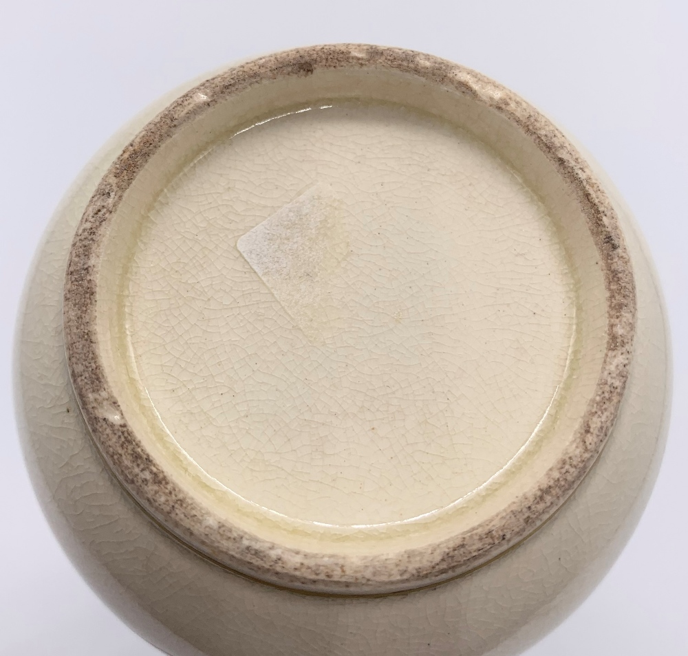 A Japanese Meiji period Satsuma vase decorated with a single dragon on a cream ground, unsigned, - Image 5 of 6