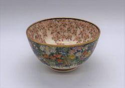 KINKOZAN; a good Japanese Meiji period Satsuma chawan, both internally and externally decorated with