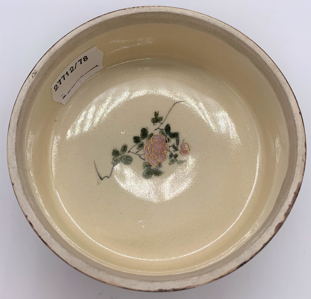 A Japanese Meiji period Satsuma kogo with figures painted to the lid, internal floral sprays and - Image 3 of 9