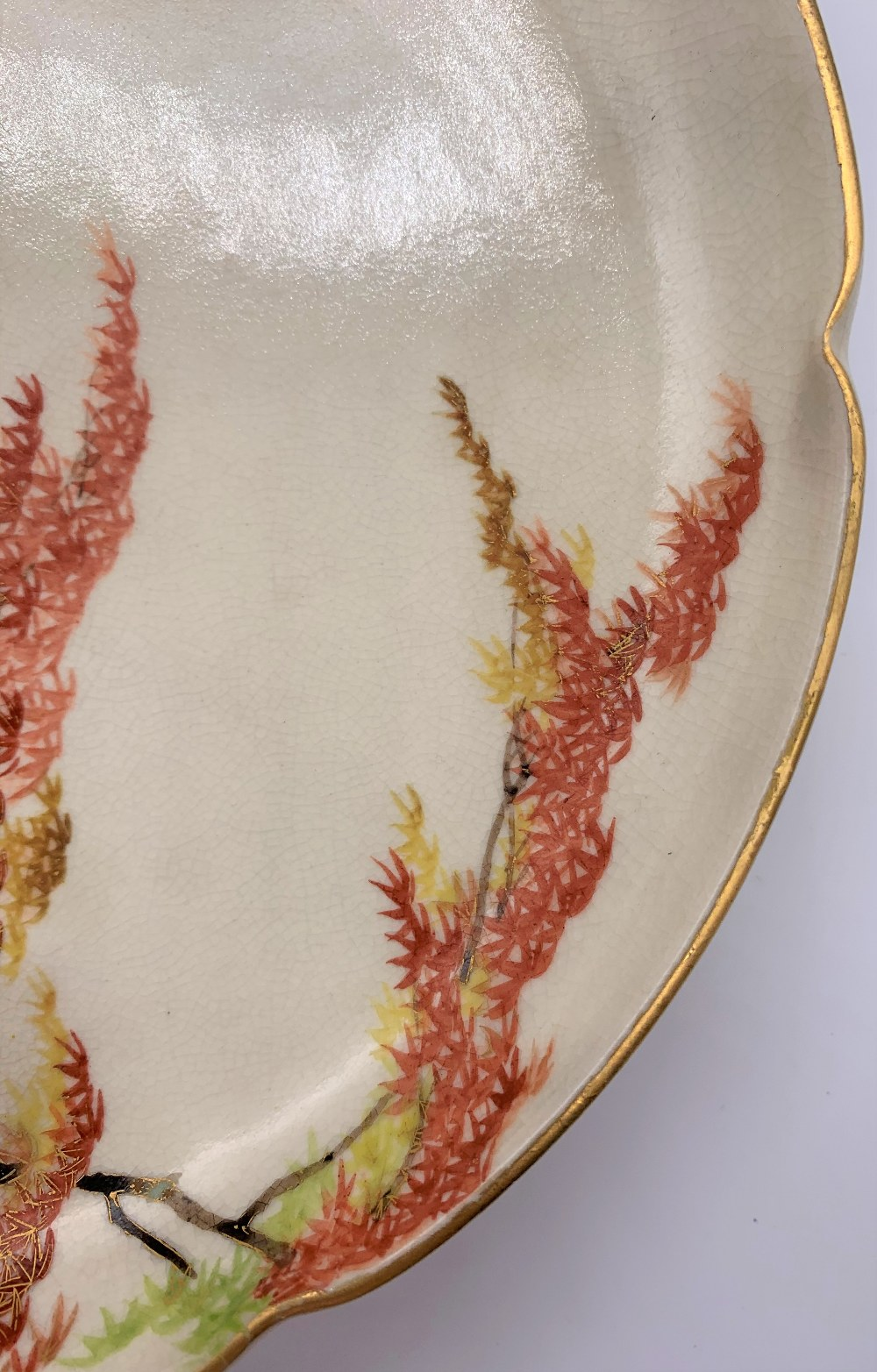 YABU MEIZAN; a fine Japanese Meiji period Satsuma dish with shaped rim and central panel decorated - Image 3 of 8
