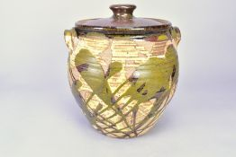 BRYAN NEWMAN (1935-2019) for Aller Pottery; a stoneware bread crock, impressed pottery mark,
