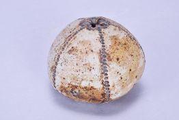 ALAN WALLWORK (1931-2019); a stoneware sea urchin form, incised W mark, height 9cm. (D)Additional