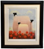 MACKENZIE THORPE (born 1956); a signed limited edition print, 'Family', edition 39/95, signed