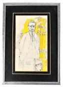 PETER MILLAR (Irish, 20th/21st century); pencil and watercolour 'Liam Mellows Executed with Rory O'