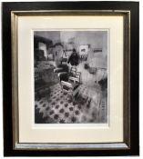 CHRISTIAN HOOK (born 1971); a signed limited edition print on board, 'La Barberia De Antonio', AP