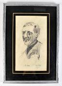 PETER MILLAR (Irish, 20th/21st century); pencil study, 'De Valera', signed and titled with artist