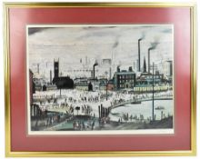 LAURENCE STEPHEN LOWRY RBA RA (1887-1976); a pencil signed limited edition print, 'An Industrial