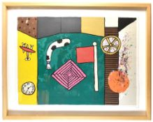 ALAN DAVIE (1920-2014); a signed limited edition lithograph, 'Magic Picture No. 1', No. 484/500