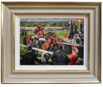 SHERREE VALENTINE DAINES (born 1959); a limited edition print, 'Ascot Race Day III', edition 24/
