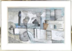 GEOFFREY KEY (born 1941); pastel and wash, 'Strangeways from Broughton', signed and dated 24.5.74,
