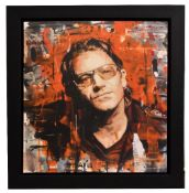 ZINSKY; signed limited edition print, 'Rock Star - Bono', no 7/95, signed lower right, 55 x 60cm,