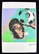 AFTER ANDY WARHOL; lithograph on wove Arches paper with deckled edges, 'Pelé from the 'Athletes'