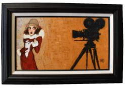 TODD WHITE (born 1969); signed limited edition print on canvas, 'Her First Screen Test', edition