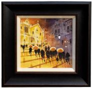 PETER RODGERS; watercolour on paper, 'Step Reflections, Spain', signed lower left, 30 x 30cm, framed