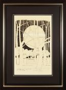 """GEOFFREY KEY (born 1941); signed limited edition print from the """"Dream Series"""" numbered 58/100, 60 x"""