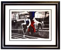 GEOFFREY KEY (born 1941); a pencil signed limited edition print, 'Cooling Line', signed and dated '