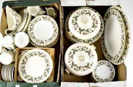 A Wedgwood 'Strawberry Hill' pattern dinner service, approx 120 pieces,