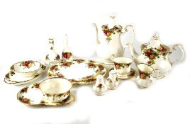 A Royal Albert 'Old Country Roses' tea and coffee service comprising teapot, coffee pot,