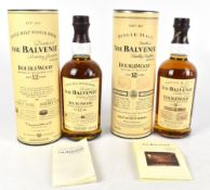 WHISKY; two bottles of The Balvenie Double Wood 'Aged 12 Years' Single Malt Scotch Whisky, 40%,