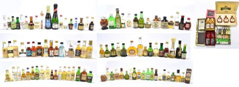 A collection of miniatures including Whiskey/Whisky with Jameson, Mackinlay's Haig etc, Rum