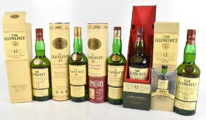 WHISKY; five bottles of The Glenlivet '12 Years of Age' / 'Aged 12 Years' Single Malt Scotch Whisky,