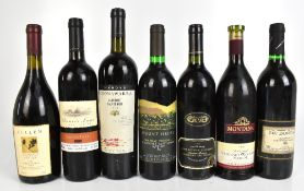 AUSTRALIA; five bottles of red wine comprising Cullen Mangan 2002, Annie's Lane Copper Trail 1998,
