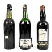 PORT; three bottles comprising Croft's Vintage 1945 bottled 1947, Offley Boa Vista 1950 (no label)