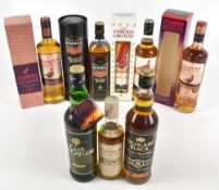 WHISKY; six bottles of blended Whisky comprising four The Famous Grouse, including the Black