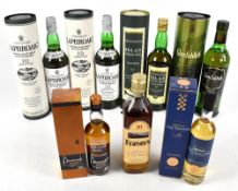 WHISKY; four 70cl bottles of Single Malt Scotch Whisky comprising two Laphroaig '10 Years Old,