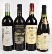 FRANCE; a single bottles of Vosne-Romané de Omaine Guyon 1992 and Chateau les Pujots Corbiéres 1995,