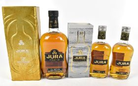 WHISKY; three bottles of Jura 'Aged 10 Years' Single Malt Scotch Whisky, one Origin 70cl and two