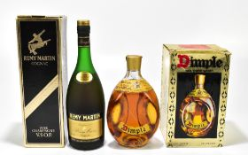 MIXED SPIRITS; a single bottle of Dimple Scotch Whisky, and a bottle of Remy Martin Cognac, each
