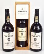 PORT; three bottles of Warre's Vintage Port for 1983 (bottled 1985) (x2) and 2002 Quinta da