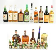 MIXED SPIRITS; a group including Labrot & Graham Woodford Reserve Distiller's Select Bourbon Whiskey