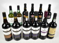 PORT; twelve bottles comprising four Taylor's, four Maynard's, a single Croft, a Tesco 2011 LBV and