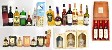 MIXED SPIRITS: six boxed Bell's blended Scotch Whiskies including commemorative examples for