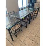 (2) tables, (7) chairs, picture