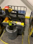 Hyster pallet jack with batter and charger; 7369 HOURS