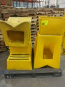 Pallet of yellow stair steps