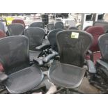 Rolling office chairs and (4) metal chairs