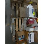 2 pallets of office supplies: Fed Ex envelopes, envelopes, highlighters, tape, (13) cases 3x1