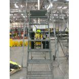 9 step rolling platform ladder