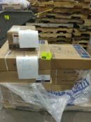 (7) cases of banding poly strap and (1) case of metal clips