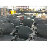 Rolling office chairs and (3) metal chairs