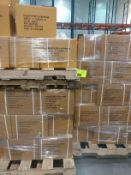 (3) pallets of precut poly strapping