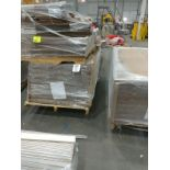 (5) pallets of corner boards, (2) pallets of boxes, onion sacks
