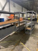 3 sections of warehouse shelving