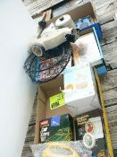 (3) FLATS VHS MOVIES, CAR CARE KIT, FLASHLIGHTS, ETC.