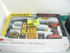STANLEY AND BLACK & DECKER 66-PIECE TOOL SET, NEW