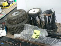 RIDING MOWER TIRES AND WHEELS, GUTTER SCREEN